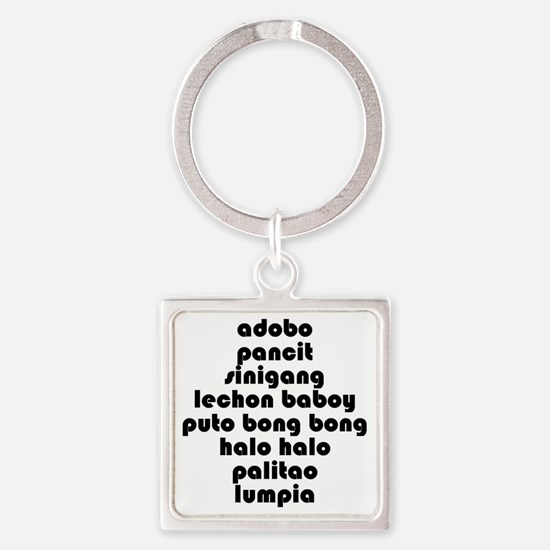 ListofFoodsBiggest Square Keychain