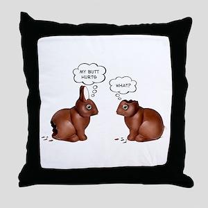 Chocolate Easter Bunnies Throw Pillow