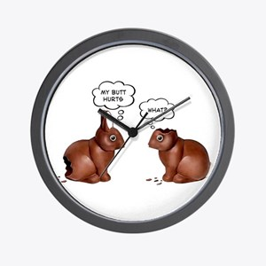 Chocolate Easter Bunnies Wall Clock