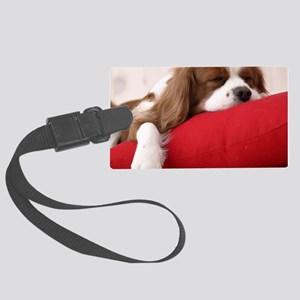 Spaniel pillow Large Luggage Tag