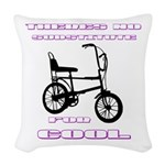 Chopper Bicycle Woven Throw Pillow