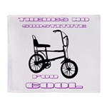 Chopper Bicycle Throw Blanket