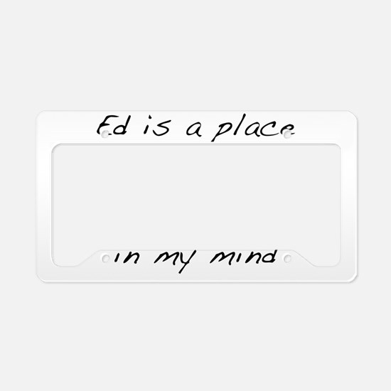 Ed_is_3 License Plate Holder