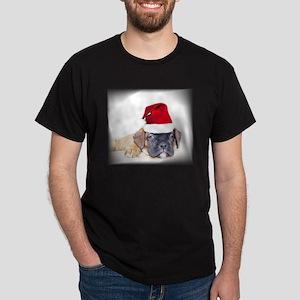 Christmas boxer puppy Dark T-Shirt