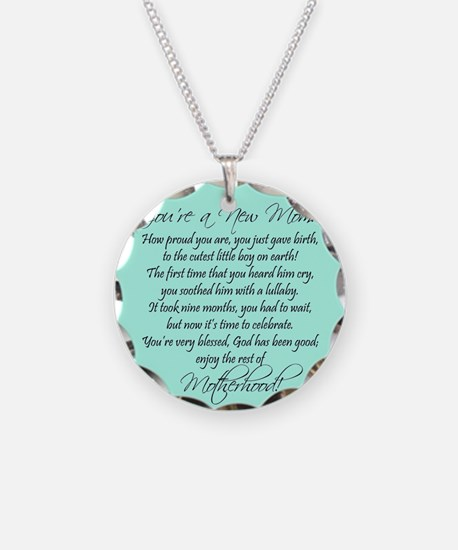 New Mom Ornament Boyl Necklace