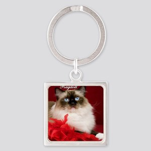 Maddie Tile Coaster Square Keychain