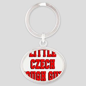Little Czech Tough Guy Oval Keychain