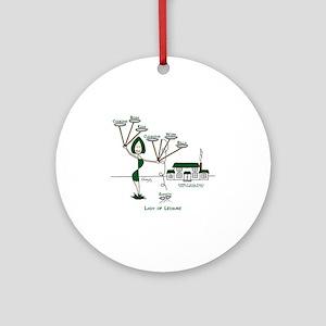 LadyOfLeisureMom-r8-CookingBossKids Round Ornament