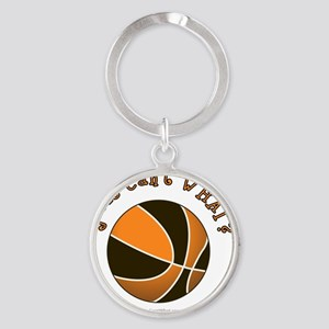 basketball-black-orange Round Keychain