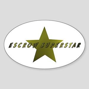 Escrow SuperStar Oval Sticker