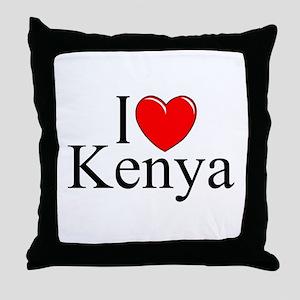"""""""I Love Kenya"""" Throw Pillow"""