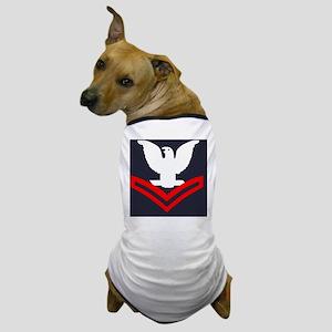 Navy-Rank-PO2-Tile-Embroidered Dog T-Shirt