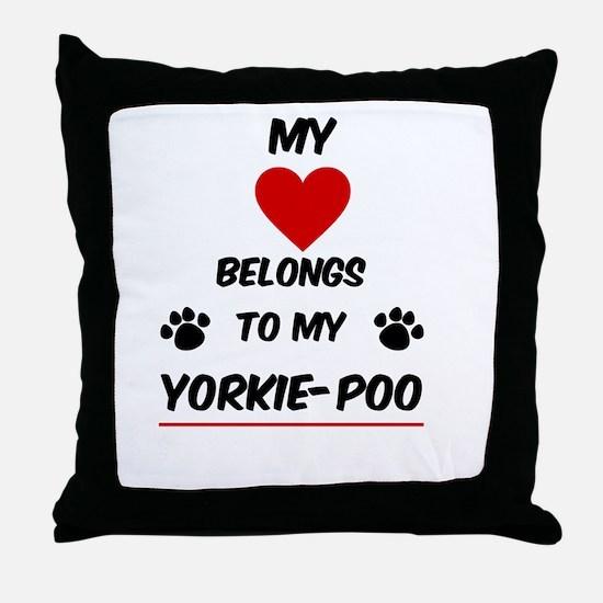 Yorkie-Poo Throw Pillow