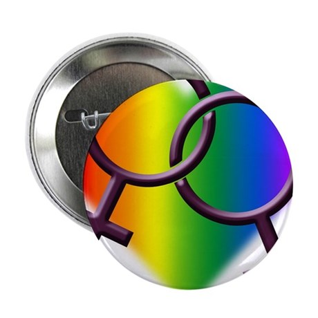 """Rainbow Love Gay Pride 2.25"""" Button (10 pack)"""
