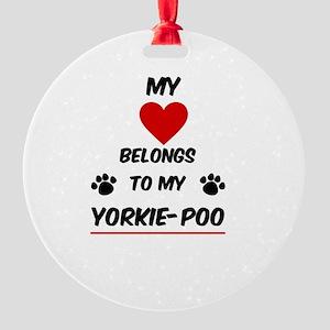 Yorkie-Poo Round Ornament
