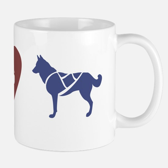 peace_love_sleddogs2 Mug