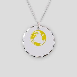 Rothbard World Necklace Circle Charm