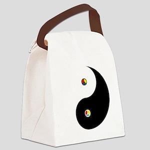 Peaceful Yin  Yang Black-T Canvas Lunch Bag