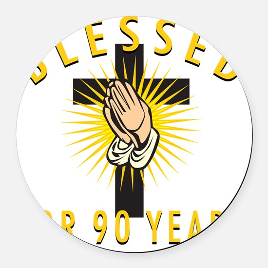 Blessed90 Round Car Magnet