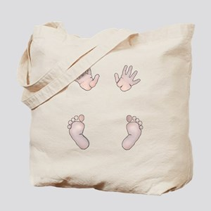 Baby hands and feet maternity t-shirt Tote Bag