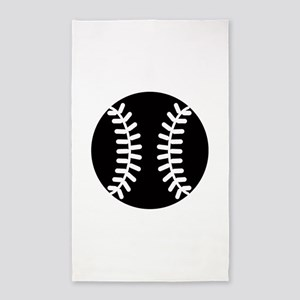 Baseball Ideology 3'x5' Area Rug