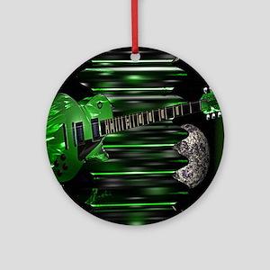 greenguitar Round Ornament