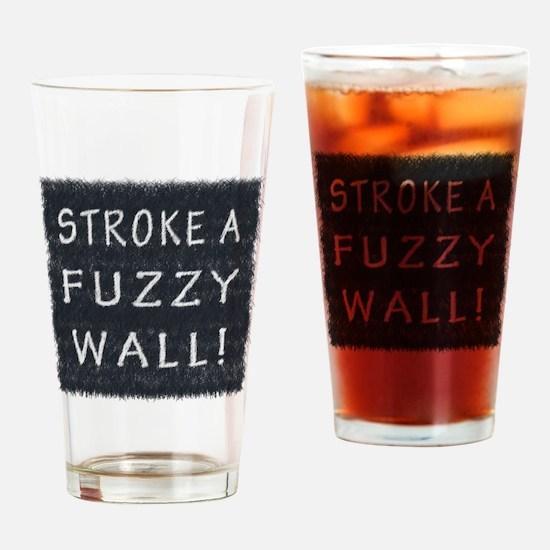 Fuzzy Wall BW Drinking Glass