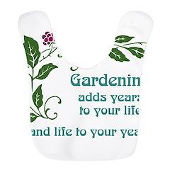 Gardening adds Years Bib