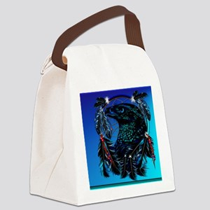 DreamcatcherBlackEagle Canvas Lunch Bag