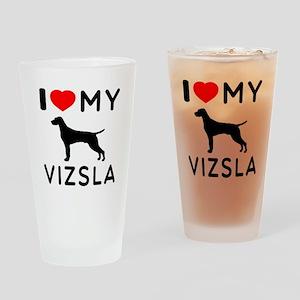 I love My Vizsla Drinking Glass