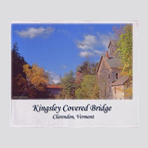 Kingsley Covered Bridge Throw Blanket