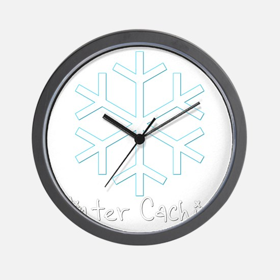 Winter Caching Wall Clock