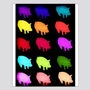 Rainbow Pigs Small Poster