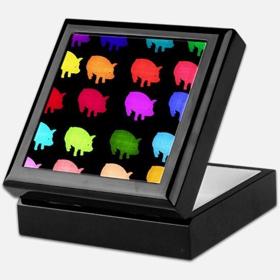 Rainbow Pigs Keepsake Box