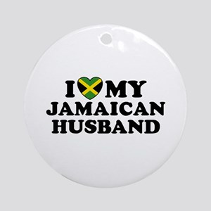 I Love My Jamaican Husband Ornament (Round)