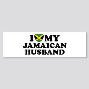 I Love My Jamaican Husband Bumper Sticker