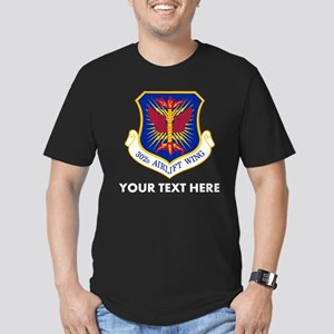 Personalized USAF 302D Men's Fitted T-Shirt (dark)