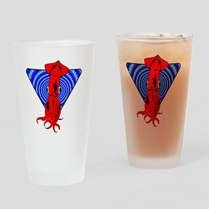 SQUID_ILLUSION Drinking Glass