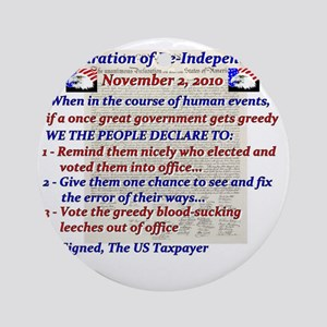 declaration of Re-independence Nov  Round Ornament