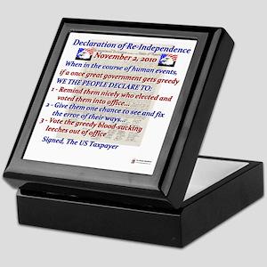 declaration of Re-independence Nov 20 Keepsake Box