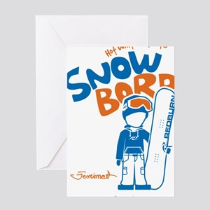 snowboarder_orange Greeting Card