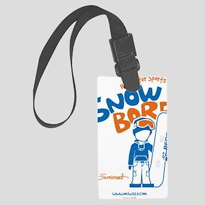snowboarder_orange Large Luggage Tag