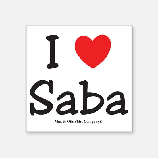 "i-heart-saba Square Sticker 3"" x 3"""