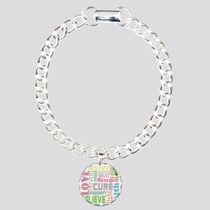 tbi-wordscollage-light Charm Bracelet, One Charm