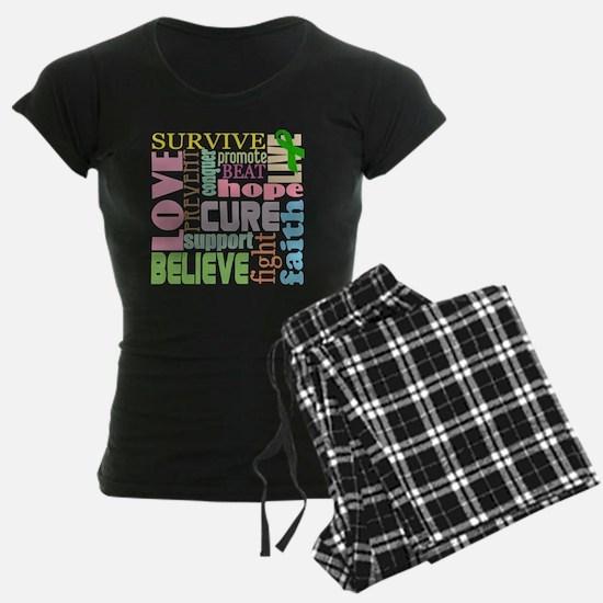tbi-wordscollage-light Pajamas