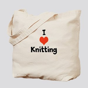 I heart knitting Tote Bag