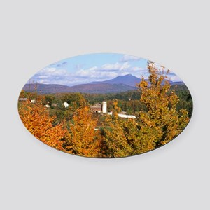 vermont-fall-poster1 Oval Car Magnet