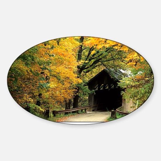 fallposter Sticker (Oval)
