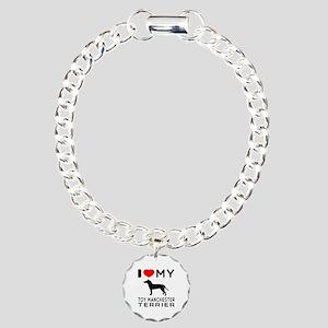 I love My Toy Manchester Terrier Charm Bracelet, O