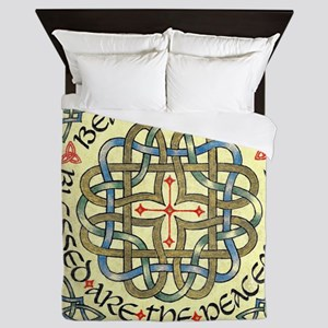 Blessed Are the Peace Makers Queen Duvet